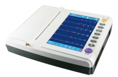 12 channel 12 leads ECG EKG monitor machine