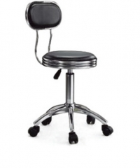 Stainless Steel High Stool With Backrest