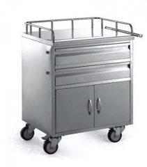 Stainless Steel Medicine Trolley(60 Grids)