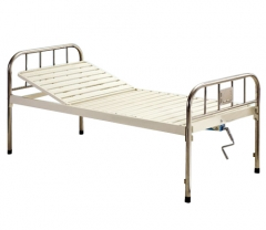 Single Manual Crank Care Bed (S.S Headboard)