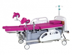 Electric gear obstetric bed