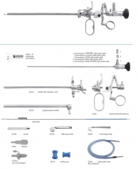 Lockable Urethrotomy Endoscope Sheath with obturator suplementray sheath Cold knife Sealing cap  Light Guide cable