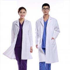 White coat and long-sleeved doctor's clothing