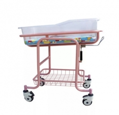 Stainless Steel Baby Bed Trolley With Mattress