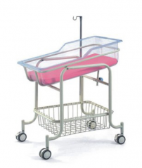 Stainless steel Baby Trolley with mattress and infusion support