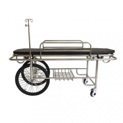 Stainless Steel Patient Stretcher With 2 big Wheels