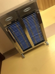 Stainless Steel Medical Records Trolley