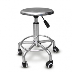 Stainless Steel High Stool 5 Legs with wheels with lift function