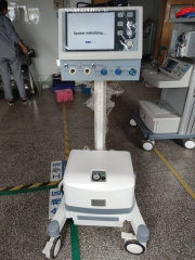 High quality trolly Ventilator with Air Compressor