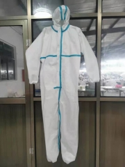 Disposable Medical Grade Protective Suit With Glue strip